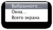 Опции Mac OS X
