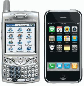 Palm Treo и iPhone 2G